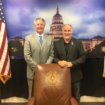 Representative Biedermann met with then-FISD Superintendent Dr. Eric Wright at the Capitol in Austin during the special session in July to discuss school finance