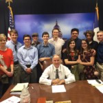 Rep. Biedermann meets with students from The Heritage School at the Texas State Capitol